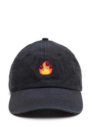 Fire Drill Embroidered Flames Cap