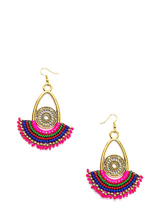 Boho Treasure Woven Cut-Out Earrings