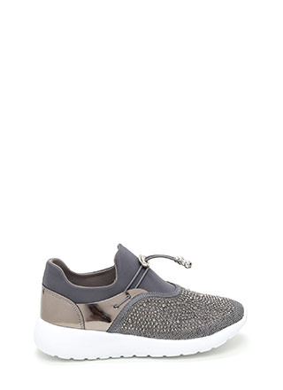 More Sparkle Toggle Platform Sneakers