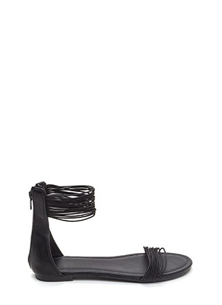 Power Cords Stacked Strap Sandals