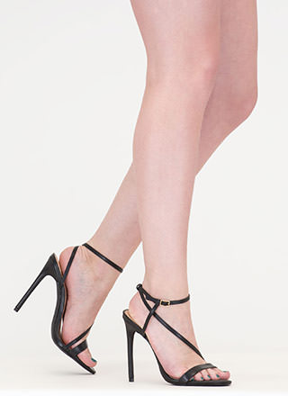 Head Turner Strappy Caged Heels