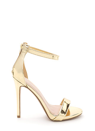 Perfect Ten Strappy Metallic Heels