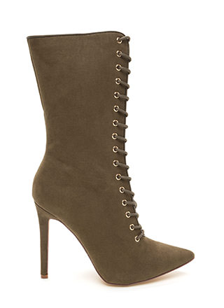 See Your Point Faux Suede Boots