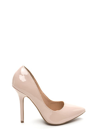 Make A Point Faux Patent Pumps