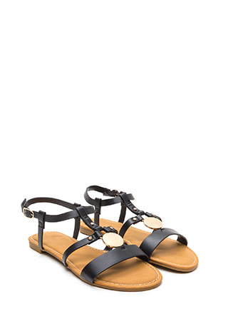 Circle Of Friends Faux Leather Sandals