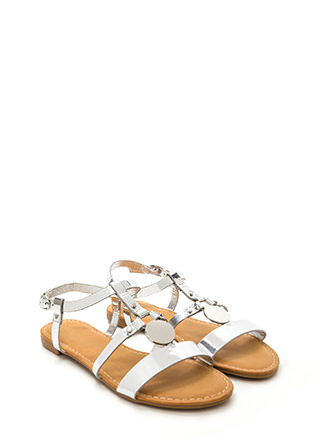 Circle Of Friends Metallic Sandals