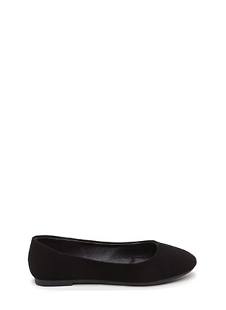 Daily Pick Faux Nubuck Ballet Flats