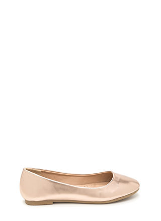 Daily Pick Metallic Ballet Flats