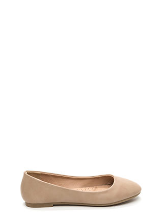 Daily Pick Faux Leather Ballet Flats