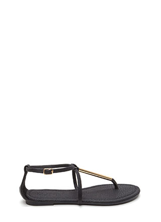 Chic Choice Faux Leather T-Strap Sandals