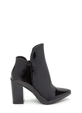 Smooth Transition Pointy Chunky Booties