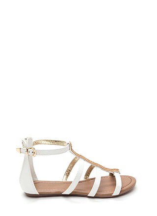 Glitterati Jeweled Gladiator Sandals