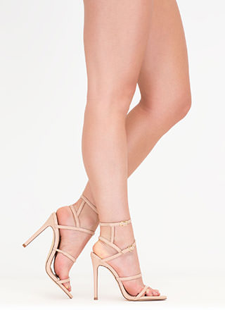 Strappy Stunner Faux Leather Heels