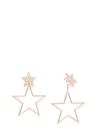 Star Quality Sparkly Statement Earrings