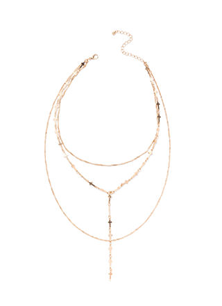 Cross Over Draped Y-Necklace