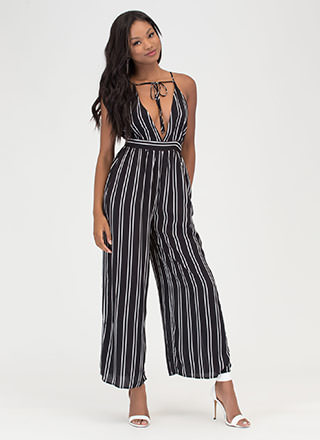 Stripe The Right Note Palazzo Jumpsuit