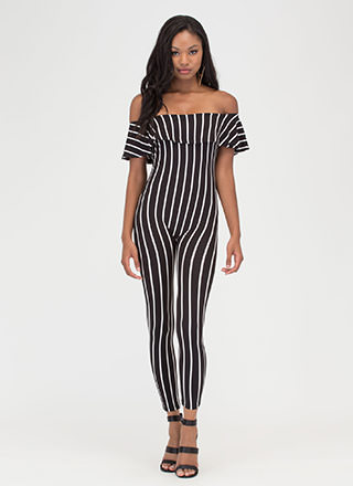Drop A Line Off-Shoulder Jumpsuit