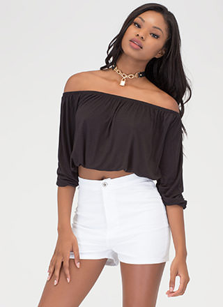 Totally Hooked Off-Shoulder Top