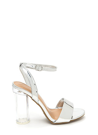 Round The World Chunky Lucite Heels