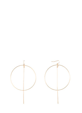 Minimal Lifestyle Hoop 'N Bar Earrings