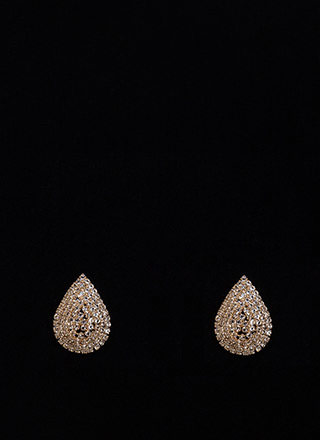 Brilliant Idea Sparkly Teardrop Earrings