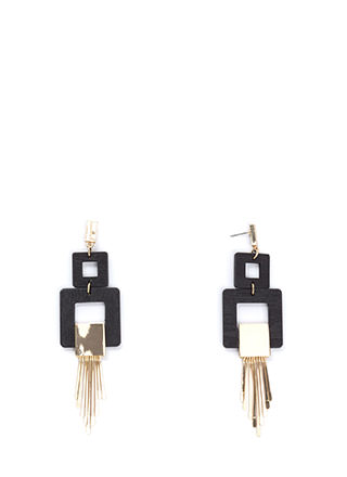 Square Root Fringed Earrings