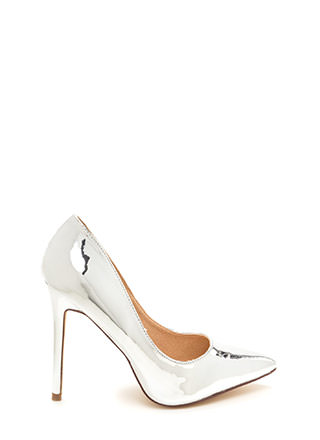Believe In Basics Pointy Metallic Heels