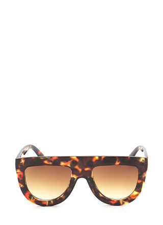 Sun Worshipper Flat-Top Sunglasses