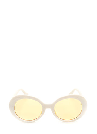 Retro Beauty Oval Sunglasses