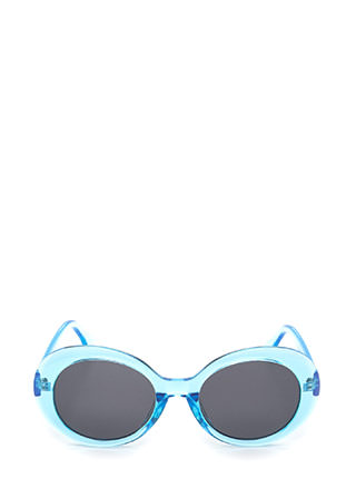 Clear As Day Retro Oval Sunglasses