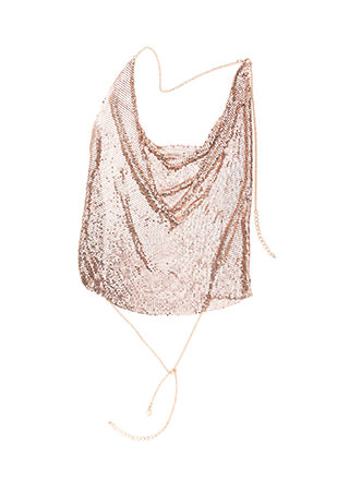 Full Gleam Ahead Chainmail Halter Top