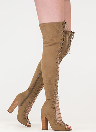 Tall Tale Chunky Thigh-High Boots