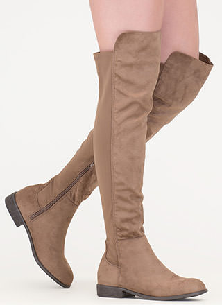Going Up Paneled Thigh-High Boots