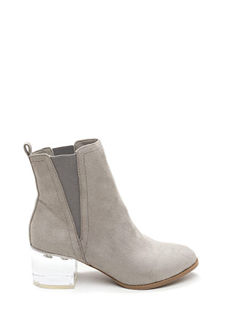 Clear Intentions Chunky Paneled Booties
