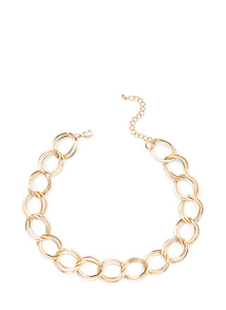 Twice The Fun Chunky Chain Link Necklace