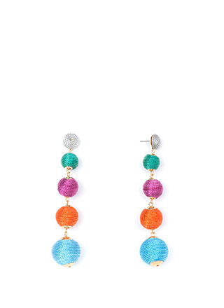 Have A Ball Thread-Wrapped Earrings