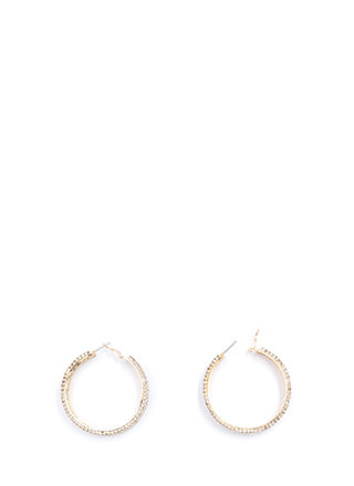 Modern Glamour Rhinestone Hoop Earrings