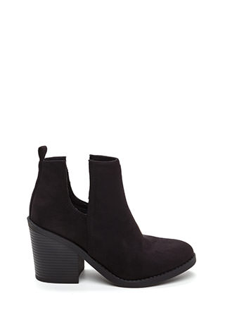 Block Party Chunky Faux Suede Booties