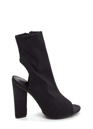 Unique 'N Sleek Chunky Cut-Out Booties