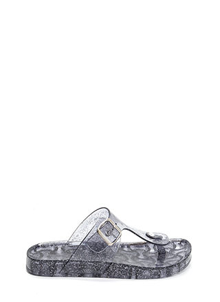 Daily Glitz Thong Jelly Slide Sandals