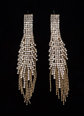 Special Occasion Jeweled Panel Earrings