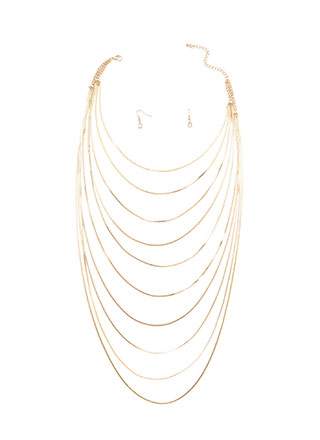 Chain-ge Of Heart Draped Necklace Set