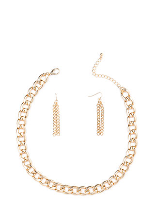 Forever Linked Chain Necklace Set