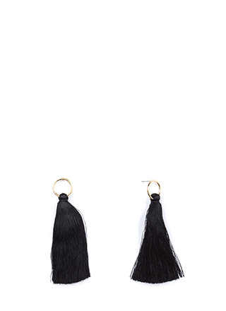 Ring It On Thread Tassel Earrings