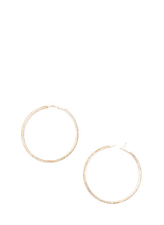 Bling Out Rhinestone Hoop Earrings
