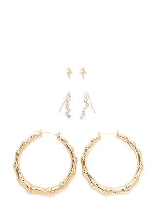 Bamboo Forest Oversized Hoop Earrings