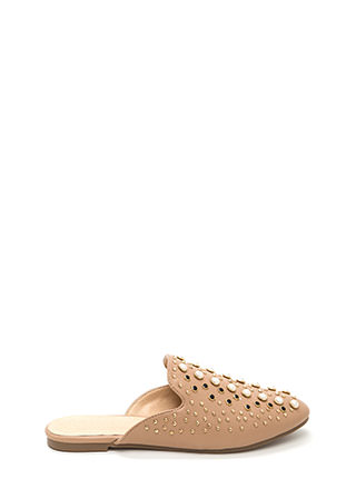 Gilded Age Faux Leather Mule Flats