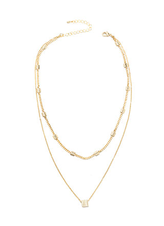 Fancy Chic Double Chain Necklace