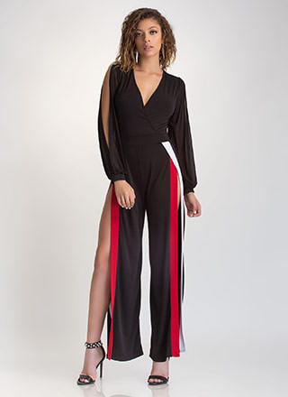 Flow Of Energy Slit Palazzo Jumpsuit