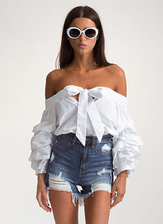 Tied With A Bow Off-Shoulder Top